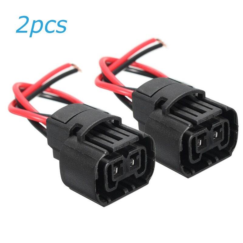 2 piezas 5202, 5201 de 2504 H16 9009 PS24W coche luces de niebla bombillas mujer arnés de cableado del conector enchufe Base