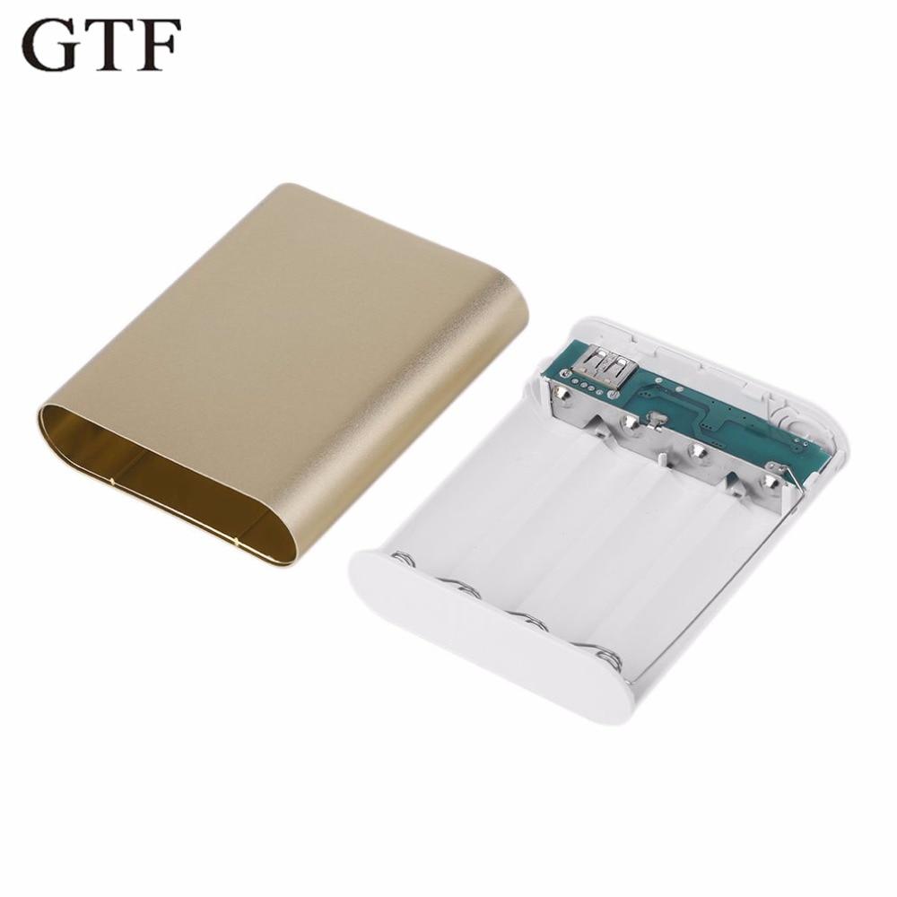 GTF 10400 mAh Caso Poder Caixa Banco De Potência DIY Motherboard Para 4*18650 GZ Bateria Caso Banco de Potência