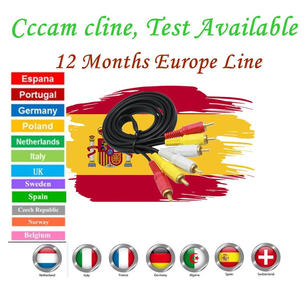 Mejor Europa Cccam Cline stabe y más rápido reloj Europa España Alemania Polonia Reino Unido África ECT TV