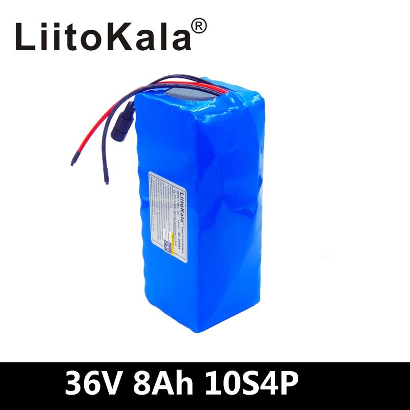 LiitoKala 36V 8Ah 500W haute puissance et capacité 42V 18650 batterie au lithium pack ebike voiture électrique vélo moteur scooter avec BMS