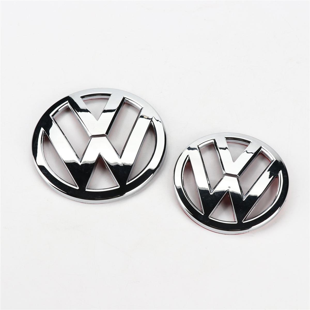 2 stücke Chrom 110mm Vorne Grill Abzeichen Emblem + 90mm Hinten Stamm Deckel Logo für VW Scirocco 1K 8 853 600/630 B 739
