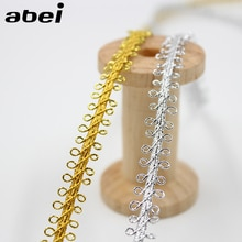 10 jardas/lote ouro prata opcional laço fita cosplay desempenho palco decoratiove laço fita diy headwear acessórios