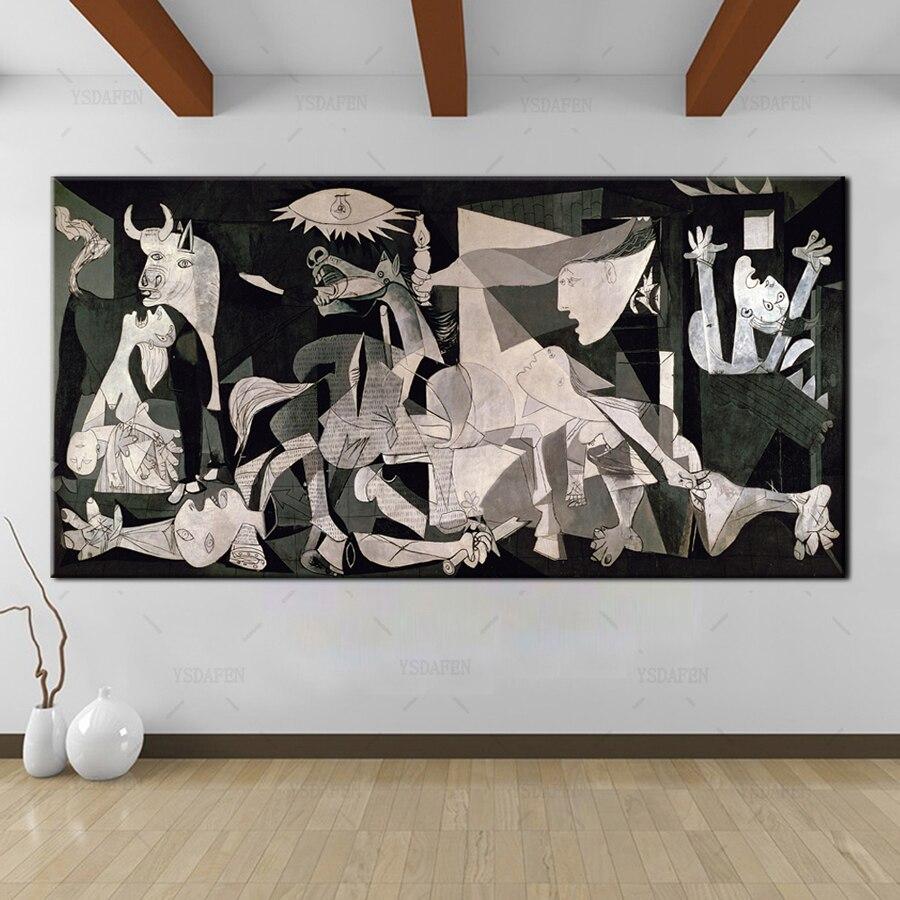 Cuadro artístico impreso sobre lienzo YSDAFEN españa francia Picasso Guernica clásica 1937 Alemania, imagen de pared