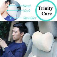 Подушка для автомобильного кресла, с эффектом памяти, Мягкий тканевый чехол для подголовника кресла, 1 шт.