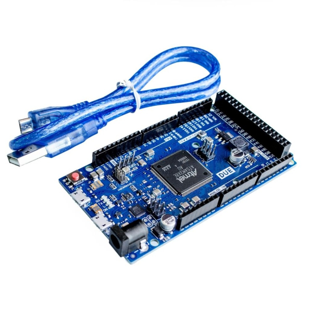 ShenzhenMaker nuevo oficial DUE R3 tablero para arduino ATSAM3X8E ARM Placa de control principal con Cable USB de 0,5 metros
