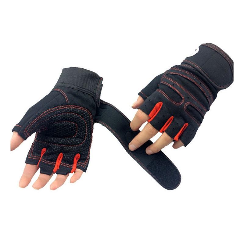 M-XL guantes de gimnasio de peso pesado de Deportes de ejercicio de levantamiento de peso guantes cuerpo edificio entrenamiento deportivo guantes gimnasio