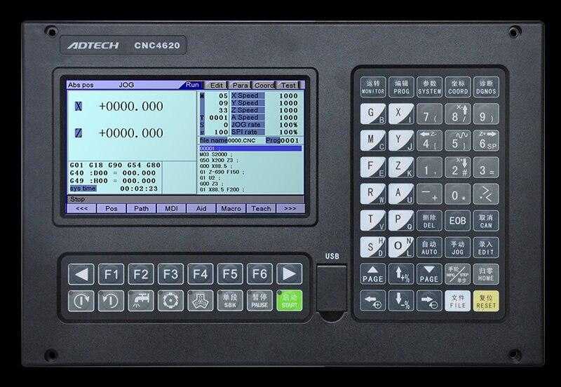 ADTECH 2 aixs controlador de torno de CNC económico CNC9620 actualizado de CNC4620
