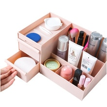 Desk office drawer type cosmetics dresser storage box E324 storage jewelry shelf wholesale small objects Container makeup organi