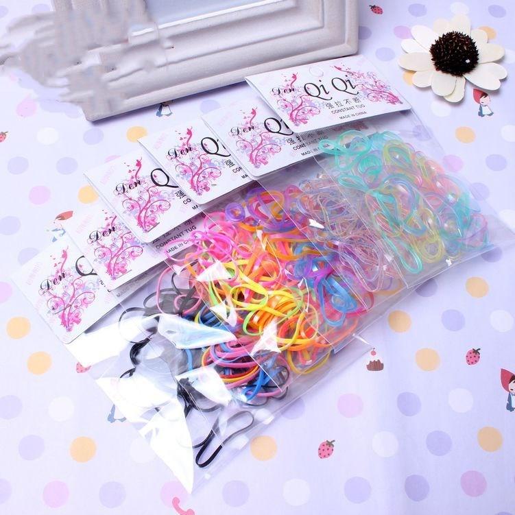 40 unids/pack de cola de caballo titular Pelo elástico pelo banda de goma cinta de pelo, accesorios para el cabello para chicas cuerda corbata goma de mascar