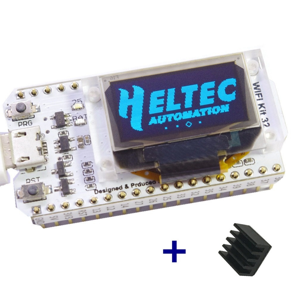 WIFI ESP32 Development Board  0.96 Inch Blue OLED Display internet of things for Arduino with heat sink