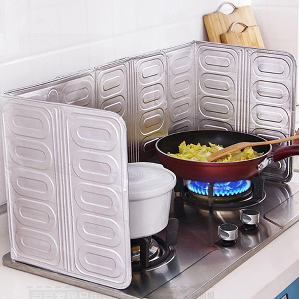 Kitchen Oil Aluminium Foil Plate Gas Stove Oil Splatter Screens Kitchen Tools  Cooking Insulate Splash Proof Baffle Plate