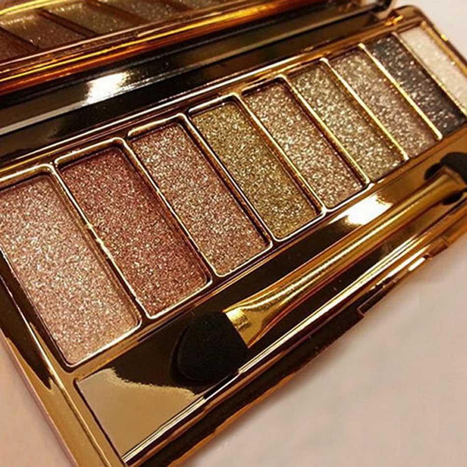 Paleta de sombras de ojos de 9 colores mate paleta de sombras de ojos brillo sombra de ojos maquillaje nude conjunto de maquillaje cosmético *
