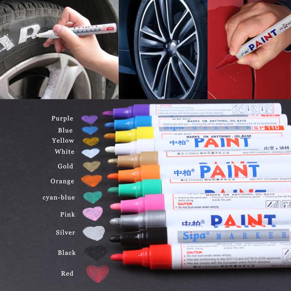 Pintura impermeable para el cuidado del coche, marcador de llanta, neumático de...