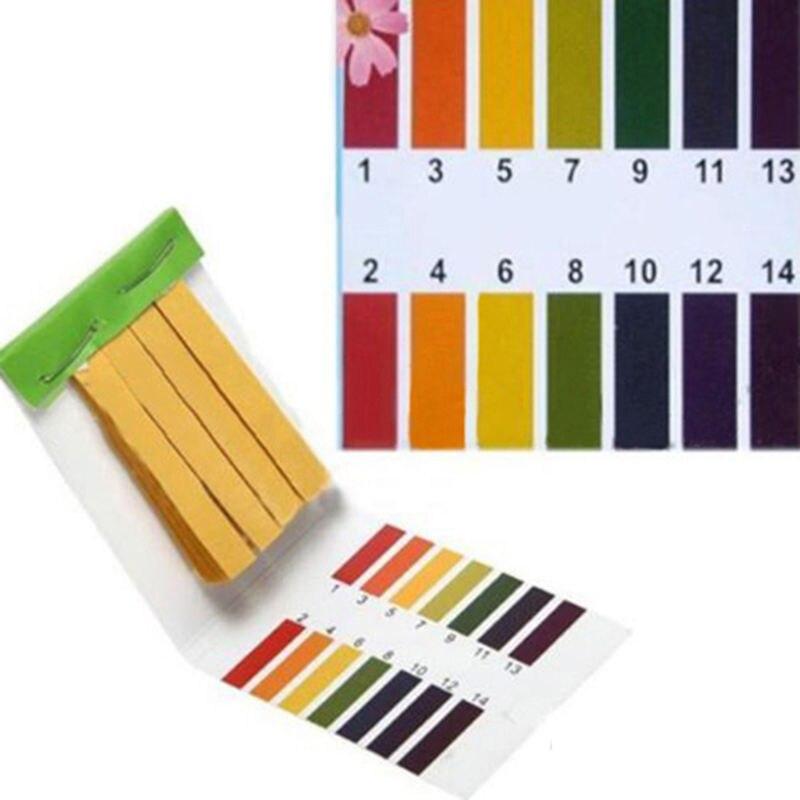 pH Test Strips Universal Full Range Litmus Paper 1-14 Acidic Alkaline Indicator Food Urine Lab Soil Body Aquarium Water Tester