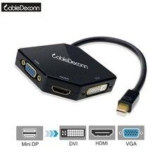 Mini DisplayPort para HDMI DP 4 K VGA DVI 1080 P Cabo Adaptador Conversor para Macbook Air Imac Macbook Pro mac mini
