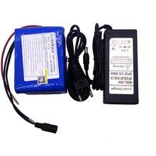 LiitoKala grande capacité 12V 10Ah 18650 lithium batterie protection conseil 12.6v 10000mah capacité + 12V 3A chargeur de batterie