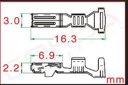 100/500/1000 unids/lote terminales de engarzado (PINES) para conector Furukawa, reemplazo de RFW-F-050/RFW-F-125