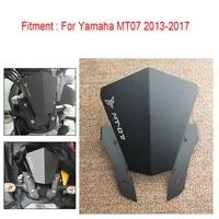 mt07 motorcycle cnc motorbike windshield windscreen cover for yamaha mt07 mt 07 mt 07 2013 2014 2015 2016 2017