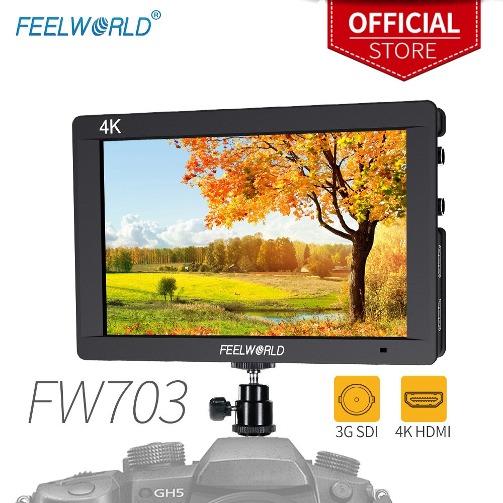 Feel world FW703 7 بوصة 3G-SDI 4K HDMI مراقب 7