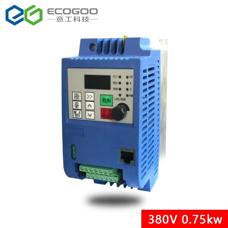 380V 0.75KW/1.5KW/2.2KW البسيطة VFD متغير التردد العاكس للمحرك سرعة التحكم تحويل