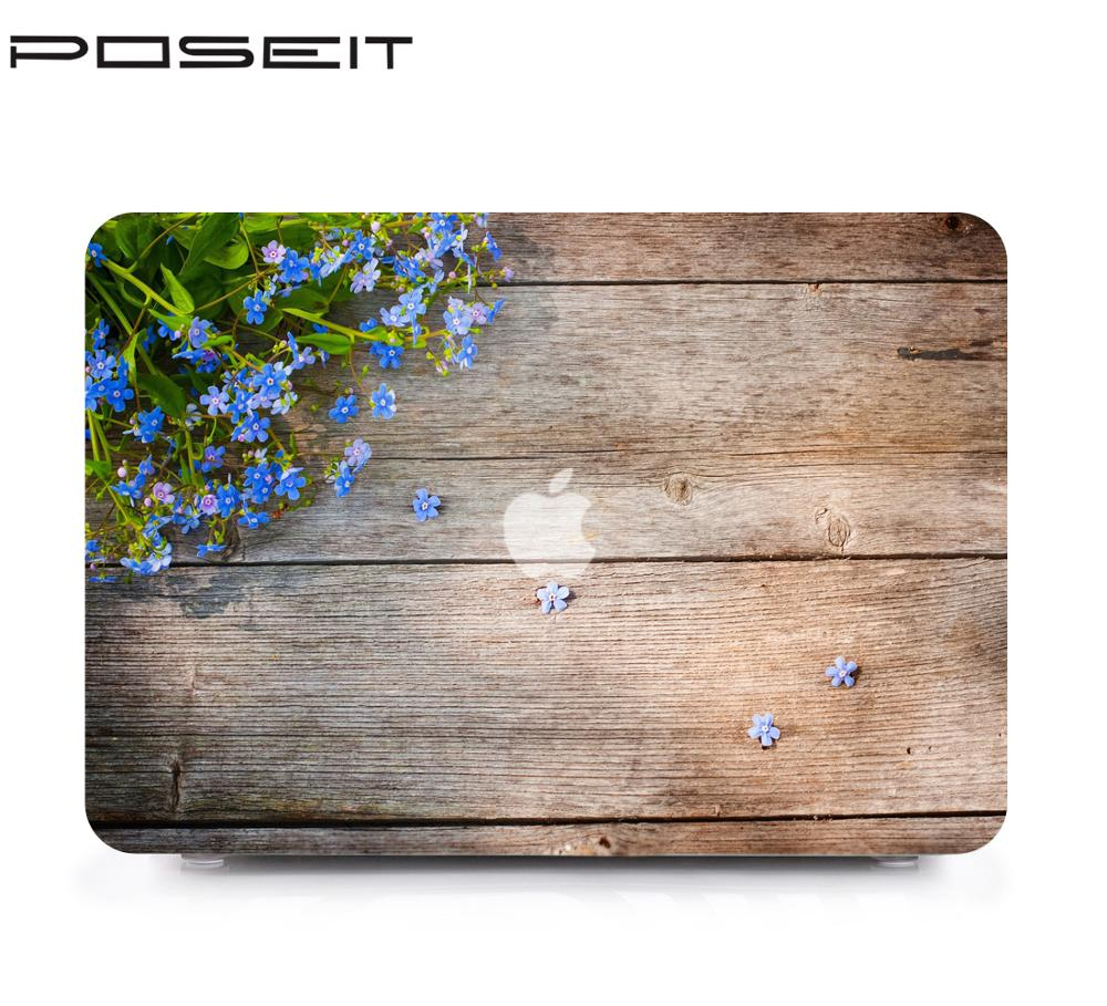 "Funda de Color para Apple MacBook Air 13 ""A1369 A1466 para Mac book 11,6 13,3 15,4 16 carcasa dura color grano de madera"