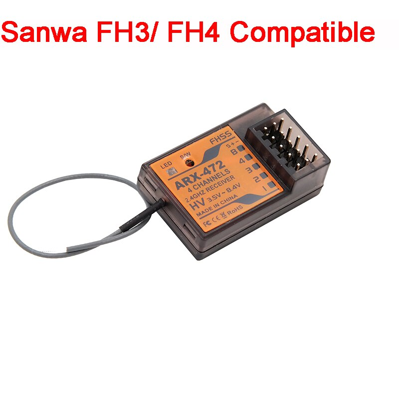 ARX-472 Compatible  Sanwa FH3 FH4 4 Channel Surface Receiver For Racing RC Car Parts enlarge