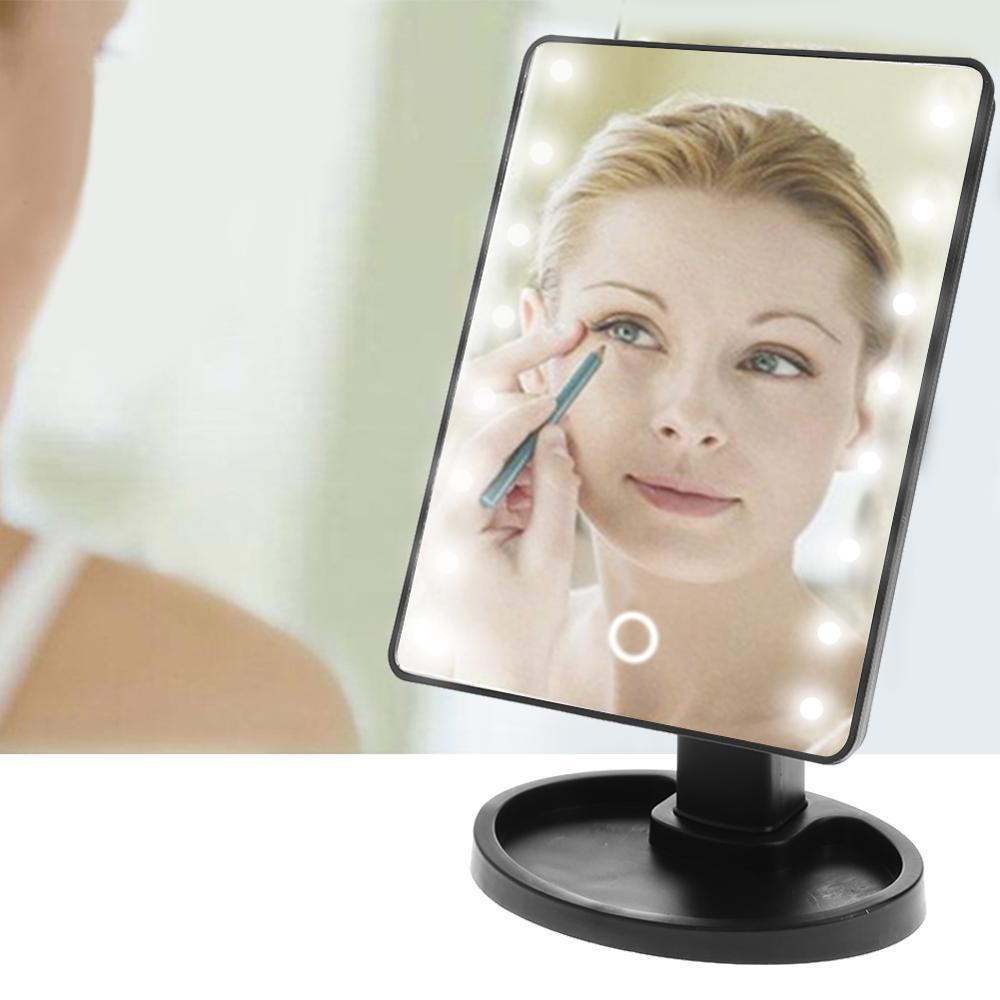 Profesional LED pantalla táctil espejo de maquillaje de lujo espejo con 16/22 luces LED 180 grados ajustable MESA DE ESPEJO
