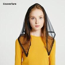 Diseño de Couverture, diadema de moda para mujer, Mantilla para iglesia, marfil, Mantilla de encaje, velo, capilla católica, masa, triángulo, bufanda, hijab