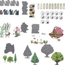 Motifs darbre à fleurs de printemps   Matrices de découpe en métal, pochoirs pour bricolage, décoration, gaufrage, fournisseur artisanal découpé 2019