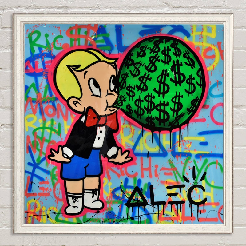 Dinero para soplar el cuadro de impresión de lienzo monopólisis de álek pinturas modulares para el cartel de la sala de estar en la pared decoración del hogar