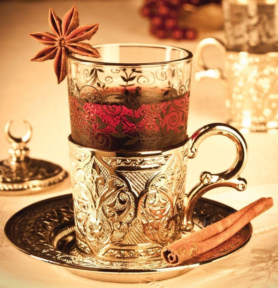 العثماني التركية الفضة النحاس الشاي القهوة الصحون الكؤوس مجموعة صينية-أعلى جودة