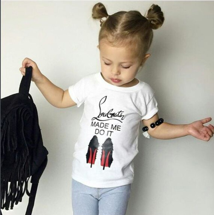 Verano, Camiseta de algodón 100% para niña, Camiseta de manga corta con estampado Infantil, Camiseta Infantil para niña SYHB172153