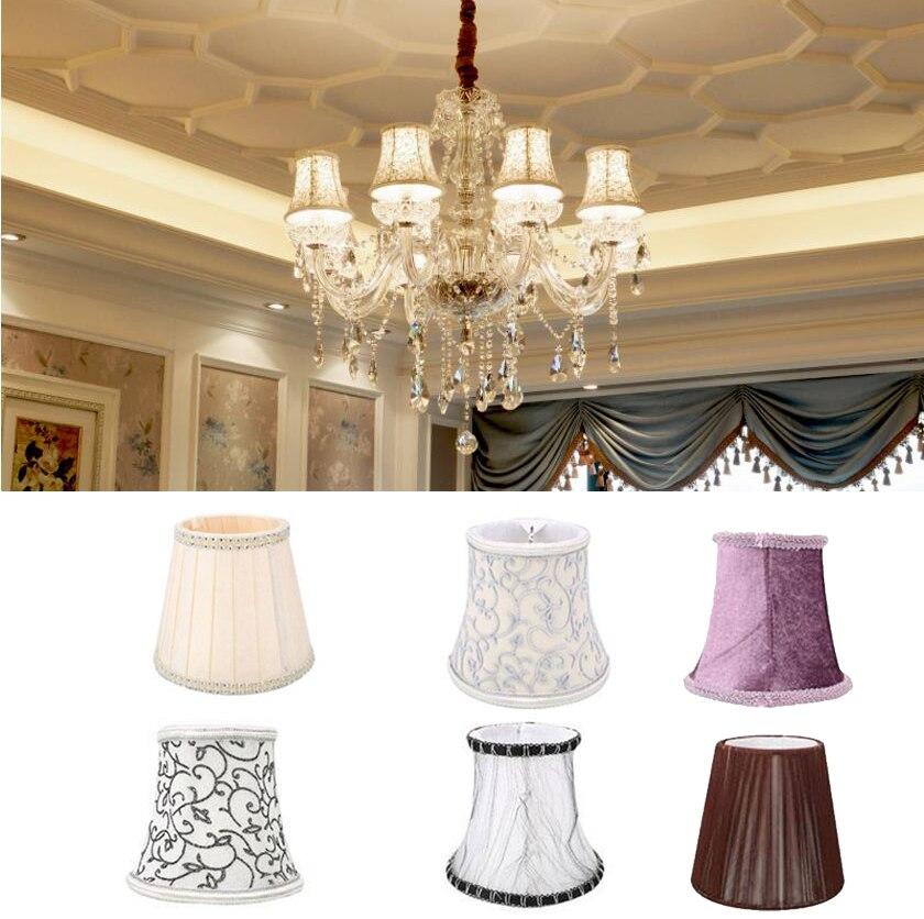 Art Deco lámpara con ondas tonos de pared de cristal de la lámpara pantalla de tela, estilo nórdico, moderno, cubierta de la lámpara para la decoración de la casa