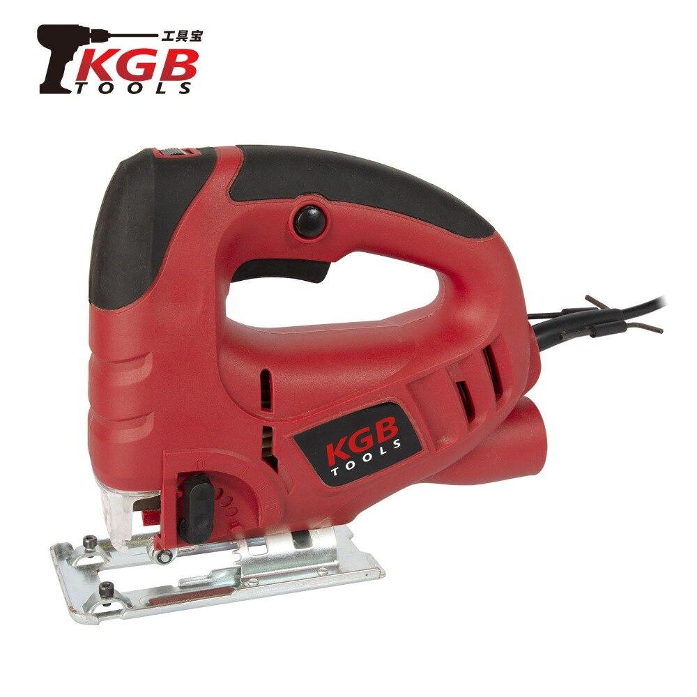 KGB 230V 570W Sierra de calar eléctrica 6-pasos ajustable carpintería máquina de corte de madera doméstica de mano