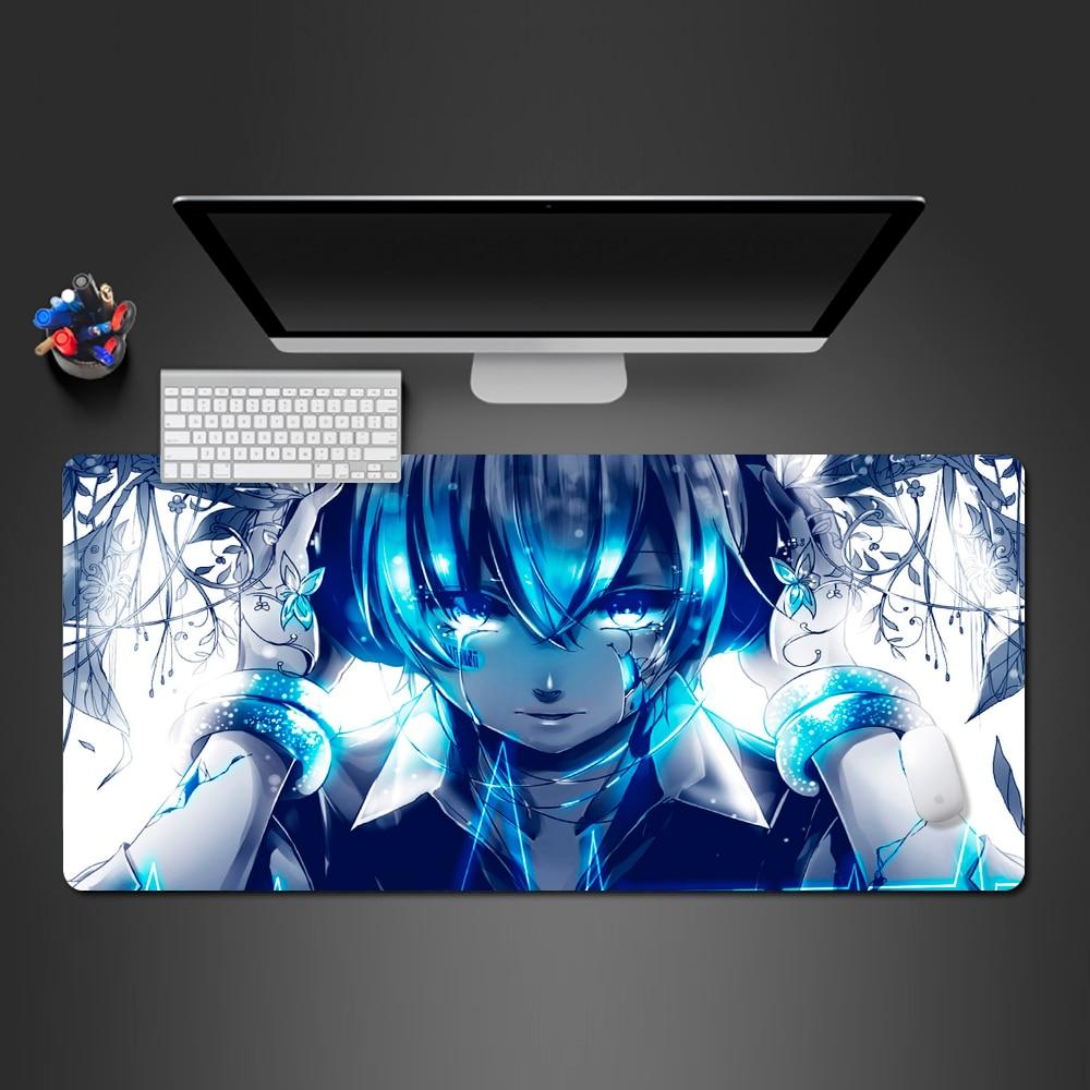 Alfombrilla De ratón Hatsune Miku, almohadilla grande Sexy para ratón, alfombrilla De ratón para ordenador, alfombrilla De regalo De Anime alfombrilla De ratón Gaming para ratón, alfombrilla De ratón