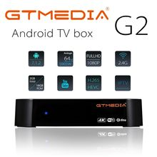 GTMEDIA G2 + IPTV FR DE TV boîte Android 7.1 OS Smart TV boîte 2GB 16GB Amlogic S905W Quad Core 2.4GHz WiFi décodeur pk X96 mini