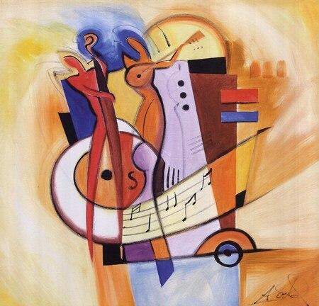 Lienzo de pintura al óleo de alta calidad reproducciones Jazz en la plaza de Gockel Alfred pintado a mano