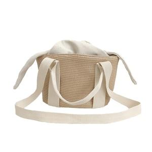 Women New Handbag Female INS Popular Beach Straw Bags Weave Ladies Exquisite Shoulder Bag Summer Fashion Travel Bolsa SS3140