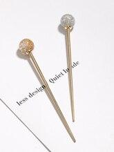 Japanischen Heißer Verkauf Frau Lollipop Haar Stick Träge Faul Temperament Gold Folie Haarnadel Mädchen Eleganten Schale Haar Ornamente