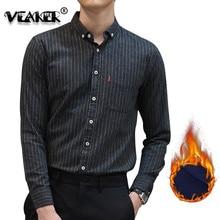 2018 men winter Fleece Shirt warm plaid shirts Male Tops long sleeve casual shirt Plus Size S-4XL