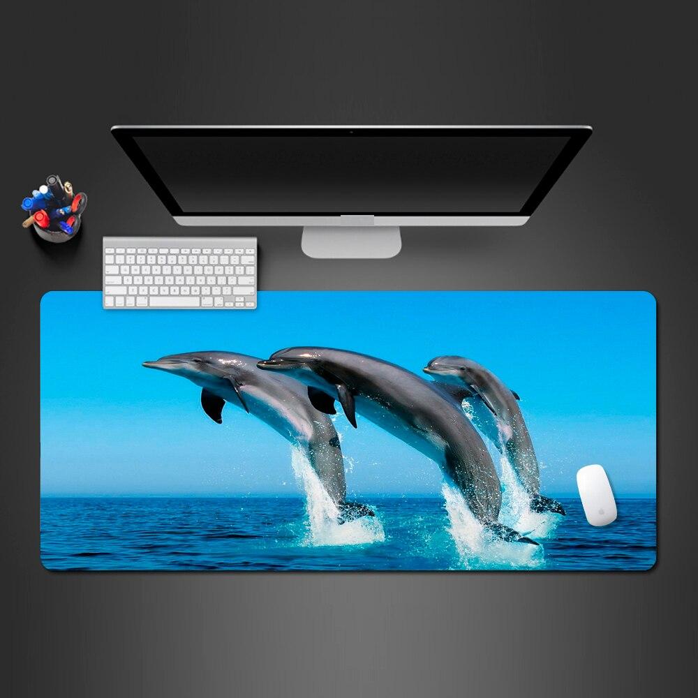 Mejor venta alfombrilla de ratón de delfín feliz de alta calidad alfombrilla de ratón equipo de juego de PC teclado de ordenador alfombrillas de juego regalos de navidad