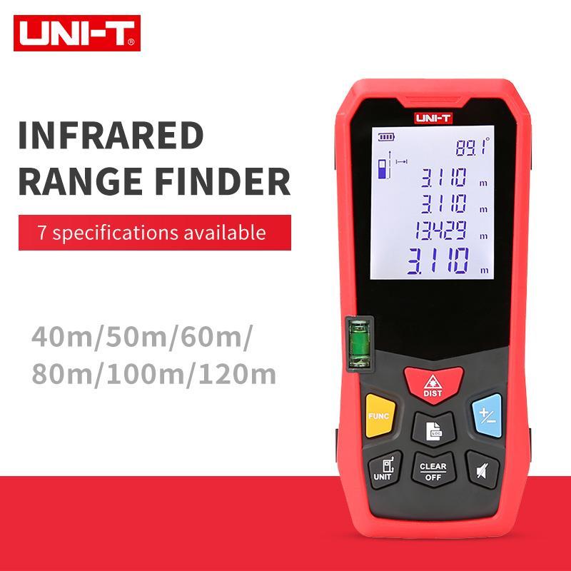 UNI-T handheld laser rangefinder medidor de distância 40 m 50 m 60 m 80 m 100 m 120 medidor laser fita construir medida dispositivo régua eletrônica