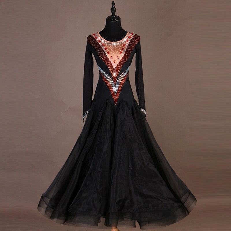 فستان رقص قياسي للبالغين ، زي قاعة الرقص ، مسابقة الرقص ، للسيدات ، q208
