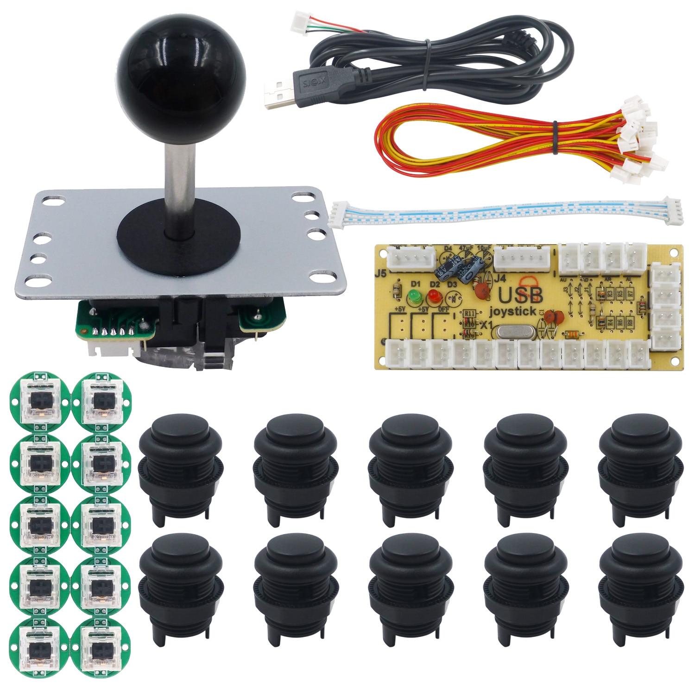 عصا تحكم من SANWA 4 & 8 لراسبيري بي بي سي مامي أركيد مات فروستيد زر ضغط ريتروبي USB مشفر بدون تأخير