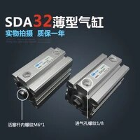 sda3235 s free shipping 32mm bore 35mm stroke compact air cylinders sda32x35 s dual action air pneumatic cylinder