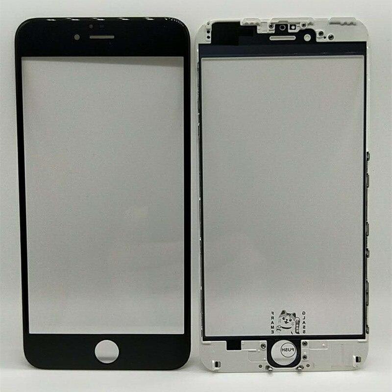 PF 10 قطعة 3 في 1 الأصلي الزجاج + الصحافة الباردة إطار + MitsubishiOCA ل iphone5/5s/6/6p/6s/6sp/7/7p/8/8p