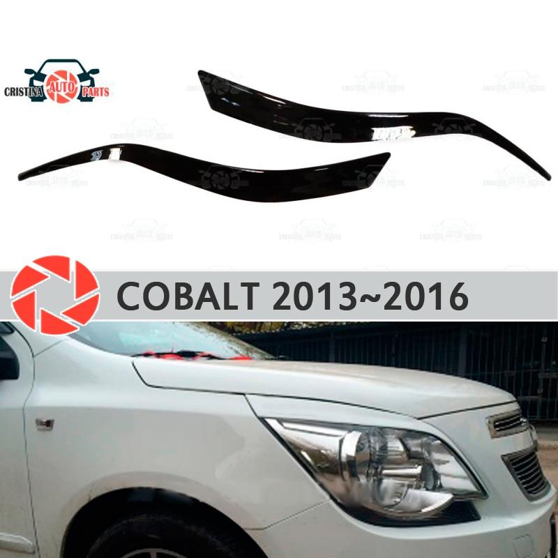 Cejas para Chevrolet Cobalt 2013 ~ 2016 para faros cilia pestañas molduras de plástico decoración fundas para Decoración Estilo de coche