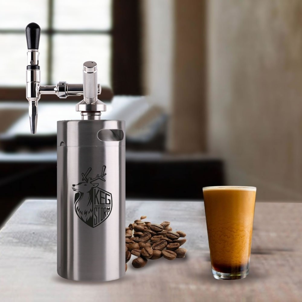 Nitro Cold Brew Coffee Maker 304  Stainless Steel 3.6L/2L Mini Keg