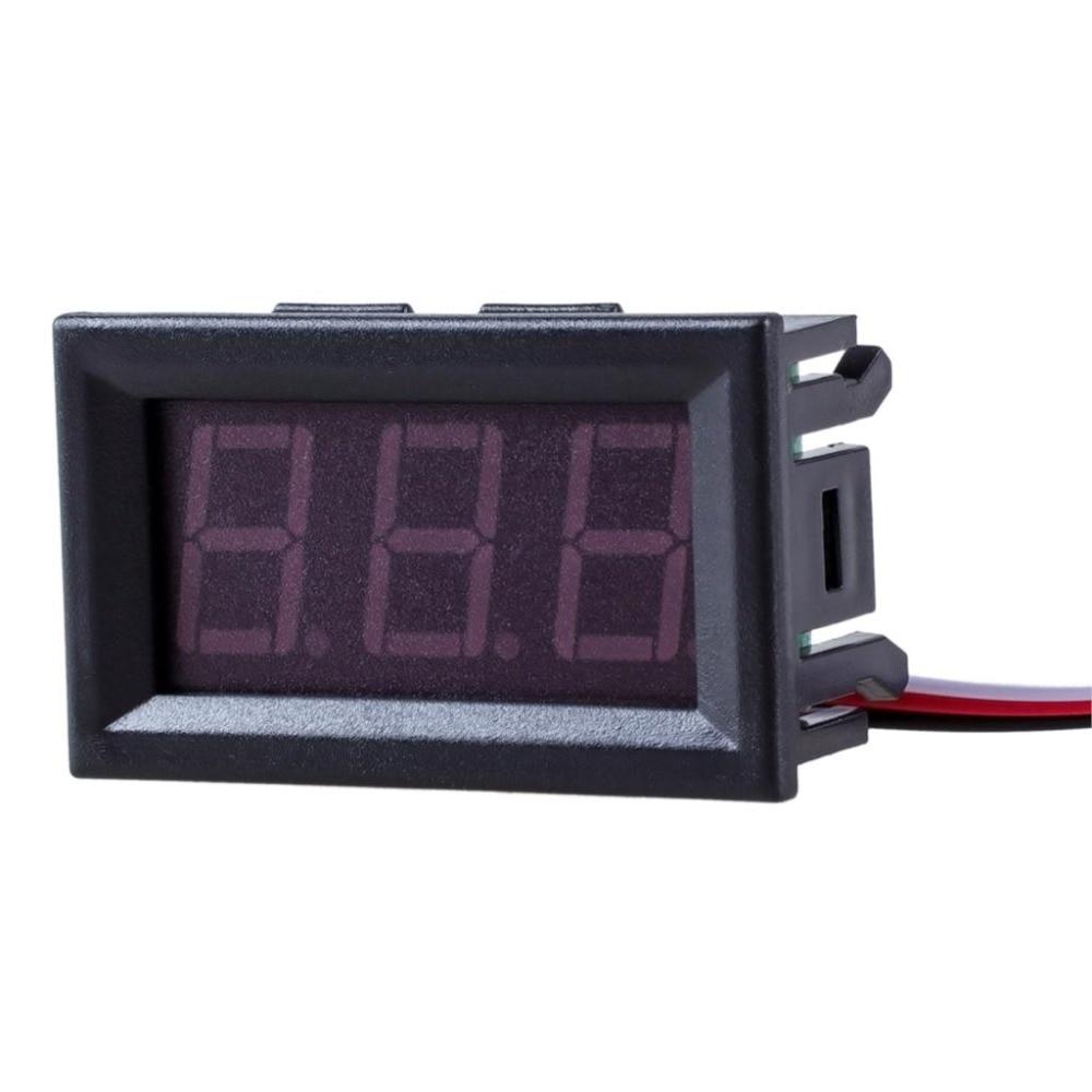 1 unidad DIY Mini voltímetro Tester Digital batería de prueba de voltaje DC 0-30V 0-100V 3 cables rojo verde azul para Auto coche Indicador de pantalla LED