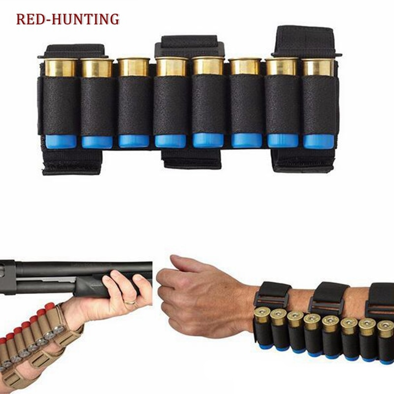 Offre spéciale Airsoft chasse Molle 8 tours GA tir pistolet coquilles support tir brassard 12 jauge balle munitions cartouche pochette
